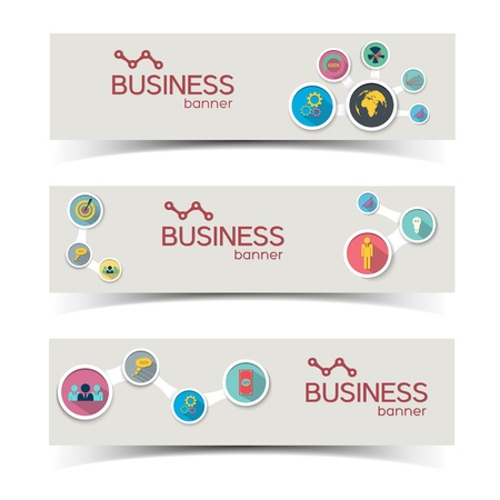 Abstract business banners set  Vector Illustration,  contains transparencies  illustration