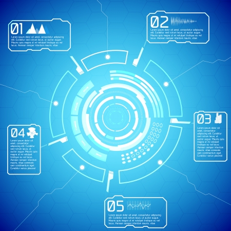Modern virtual technology background  Vector Illustration,  contains transparencies  illustration