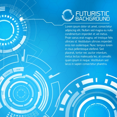 virtual technology: Modern virtual technology background  Vector Illustration, contains transparencies  Illustration