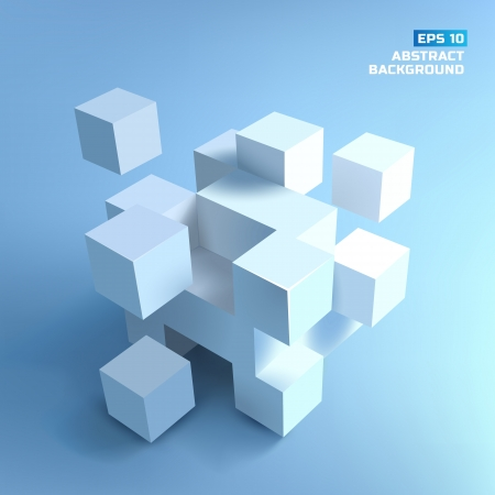 corporate building: Abstract cubes. Background.