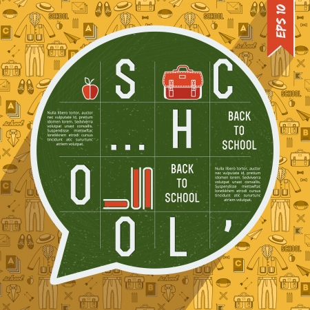Back to school background. Vector Illustration, eps10, contains transparencies. Vector