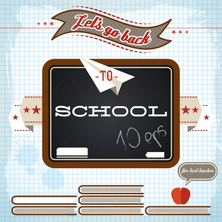 Back to school background. Vector Illustration, eps10, contains transparencies. Stock Vector - 24462352
