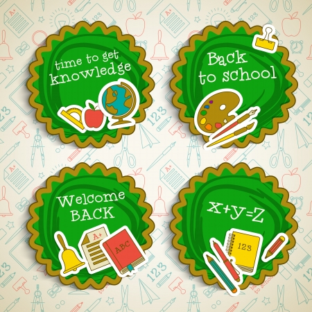 Back to school banners set. Vector Illustration, eps10, contains transparencies. Vector