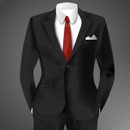 Male clothing suit. Vector Illustration, eps10, contains transparencies. Vector