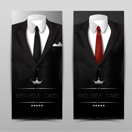 Male clothing suit. Exclusive card. Vector Illustration, eps10, contains transparencies. Vector