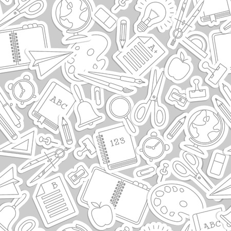 school icon: Back to school seamless pattern. Vector Illustration, eps10, contains transparencies.