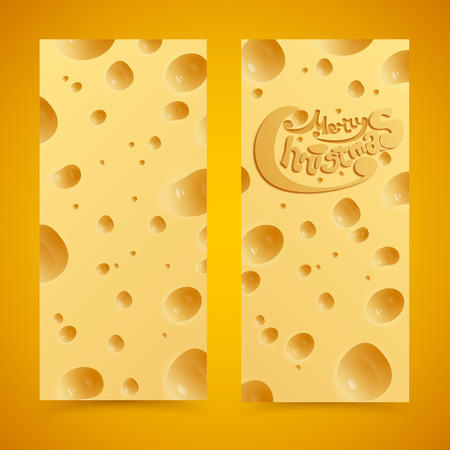 Merry Christmas. Cheese concept. Vector Illustration, eps 10, contains transparencies. illustration