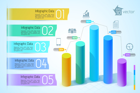 Modern business charts and graphs. Vector Illustration, eps 10, contains transparencies. illustration