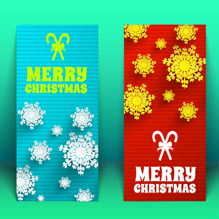 Merry Christmas creative banners set.. Vector Illustration, eps10, contains transparencies. illustration