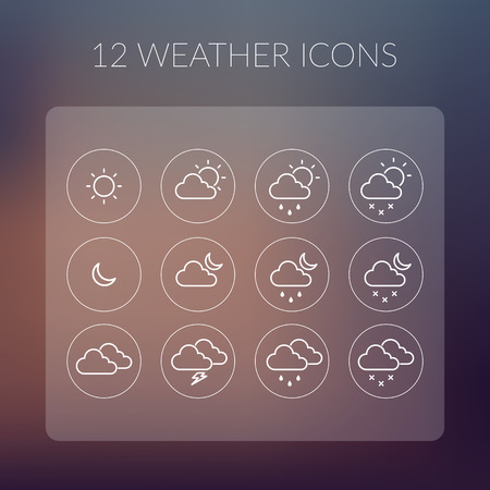 cloudy weather: Weather Icons Set.