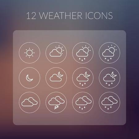 weather icons: Weather Icons Set.
