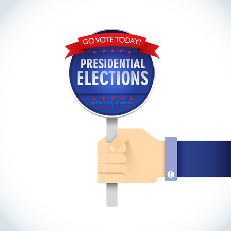 presidential election: US Presidential election 2016. American president. go vote today. presidential elections. Vector Illustration, eps10, contains transparencies.