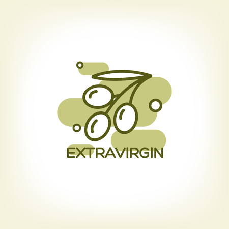 Vector  of olive branch. Olive tree. Premium quality oil