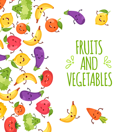 healty: Healty food cartoon representing some funny vegetables