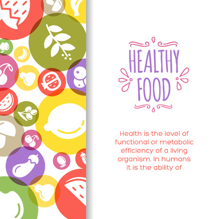 healty eating: Healty food background representing. vegetables and fruits icons Illustration