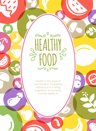 healty food: Healty food background representing. vegetables and fruits icons Illustration