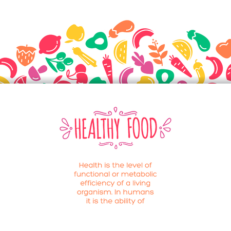 healty: Healty food background representing. vegetables and fruits icons Illustration