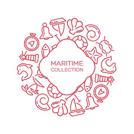 maritime: Maritime collection. Sea theme vector background