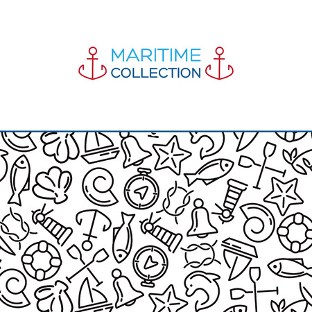 sailing: Maritime collection. Sea theme vector background