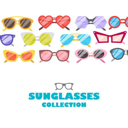Vector illustration sunglasses icons background