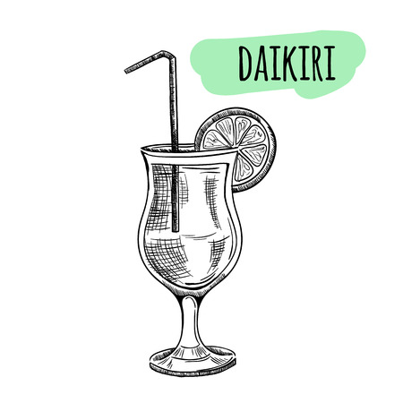 Sketch cocktails and alcohol drinks vector hand drawn illustration Set of sketch cocktails and alcohol drinks vector hand drawn illustration Ilustração