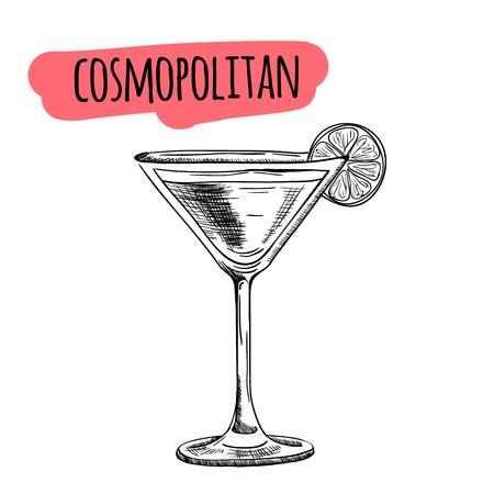cocktails et boissons alcoolisées Sketch vecteur dessiné à la main illustration Ensemble de cocktails croquis et illustration dessinée boissons alcoolisées vecteur main