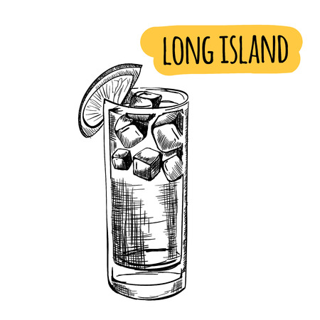 Sketch cocktails and alcohol drinks vector hand drawn illustration Set of sketch cocktails and alcohol drinks vector hand drawn illustration Stock Illustratie