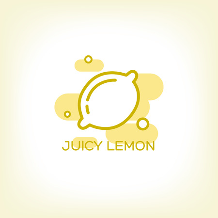 Lemon and Healthy Fruit design with modern style, vector illustration