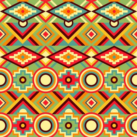 vintage patterns: Abstract Kaleidoscope Seamless Pattern. Vector illustration Illustration