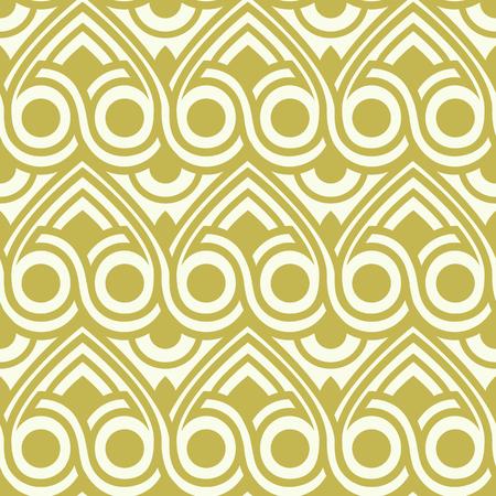 Abstract Kaleidoscope Seamless Pattern. Vector illustration  イラスト・ベクター素材