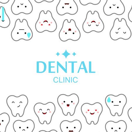 Dental clinic teeth background. Vector illustration Vector Illustration