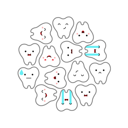 Dental clinic teeth background. Vector illustration Çizim