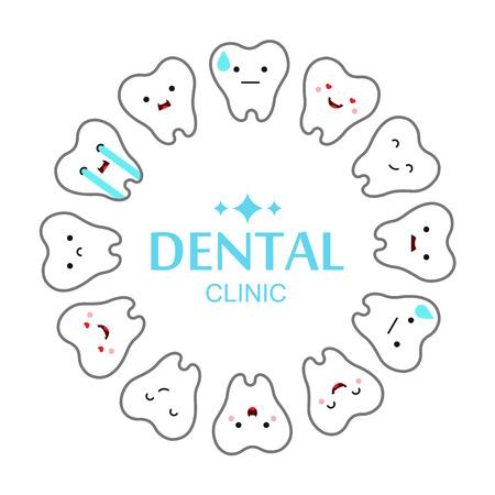 歯科医院歯の背景。ベクトル図