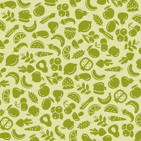 Organic world health day. Fruit and vegetables Stock Illustratie