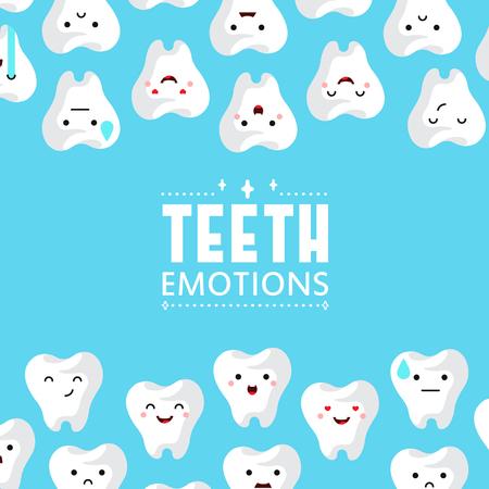 Dental clinic teeth background. Vector illustration Stock Illustratie