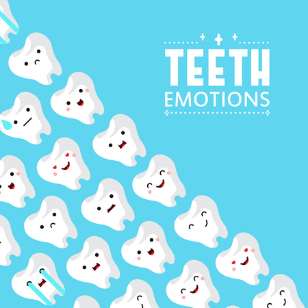 Dental clinic teeth background. Vector illustration Ilustração
