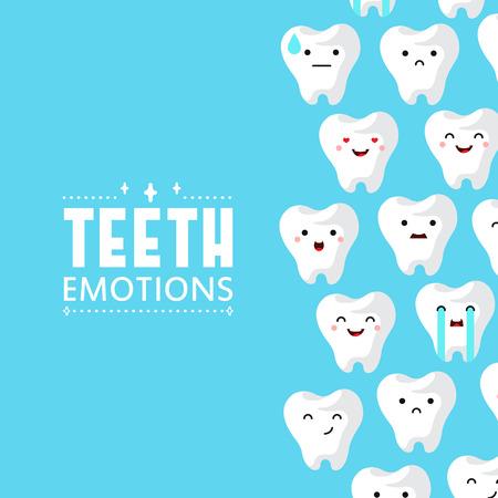 Dental clinic teeth background. Vector illustration Illustration