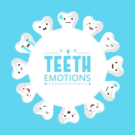 Dental clinic teeth background. Vector illustration Illusztráció