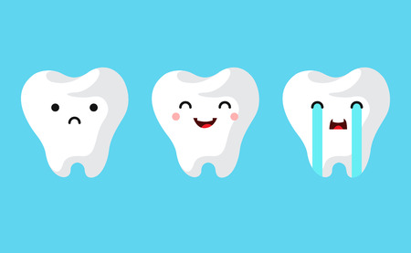 Dental clinic teeth set. Vector illustration