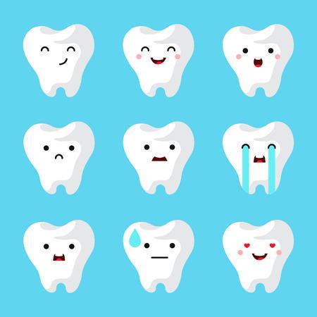 歯科医院歯を設定します。ベクトル図