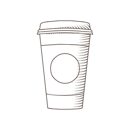 Coffee Cup drawed by hand isolated illustration