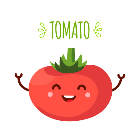 illustration of tomato on a white background Illustration