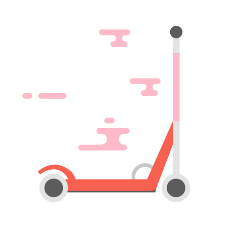 scooter elettrico o un calcio. illustrazione vettoriale isolato sul bianco