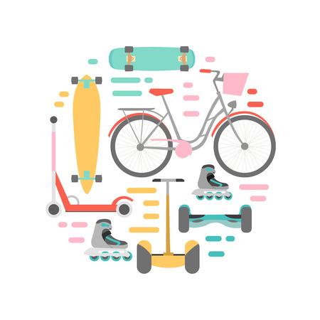 means of transport: Means of transport vector background illustration