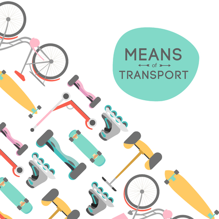 Means of transport vector background illustration with text area Reklamní fotografie - 62090542