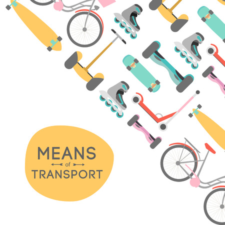 Means of transport vector background illustration with text area Reklamní fotografie - 62090543