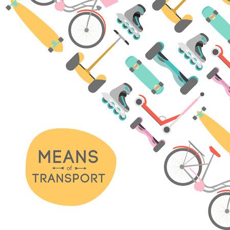 Medios de transporte vector ilustración de fondo con área de texto