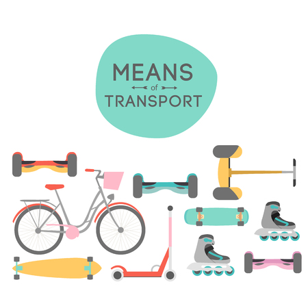 Means of transport vector background illustration with text area Reklamní fotografie - 62090553