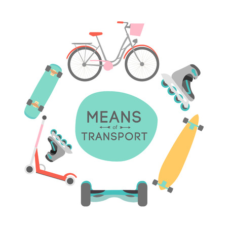 text area: Means of transport vector background illustration with text area