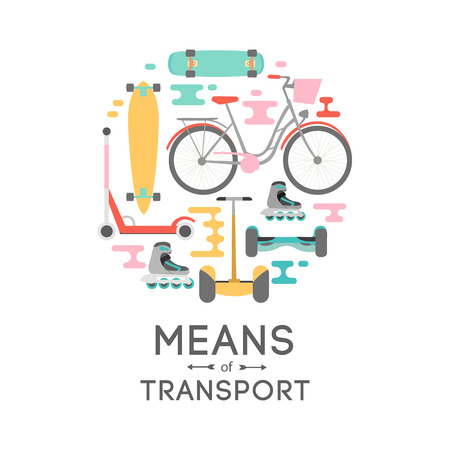Means of transport vector background illustration with text area Reklamní fotografie - 62388708